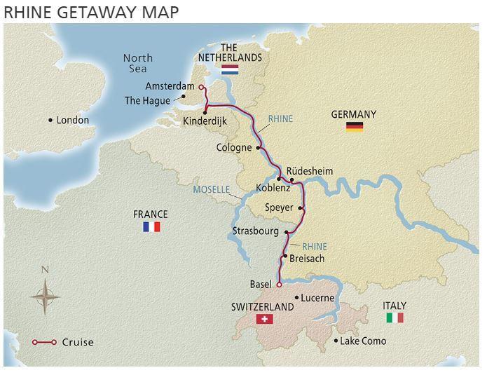 Rhine map